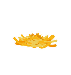 grated cheese isolated ingredient for cooking vector image