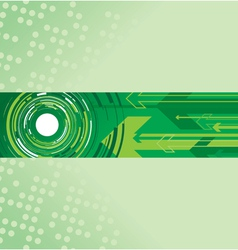 green circle and arrow background vector image