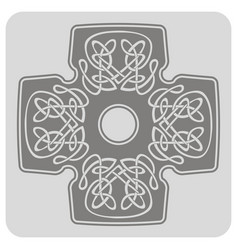 Icon with cross and ethnic celtic ornaments vector