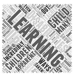 learning disabilities Word Cloud Concept vector image