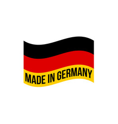 made in germany icon with german flag vector image