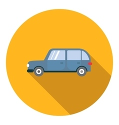 Mini van car icon flat style vector