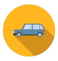 Mini van car icon flat style vector image