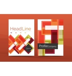 Modern colorful line composition designs vector
