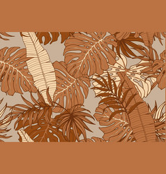 modern exotic seamless pattern tropical leaves vector image