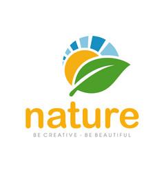 nature logo and farm logo vector image