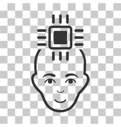Neural Computer Interface Icon vector