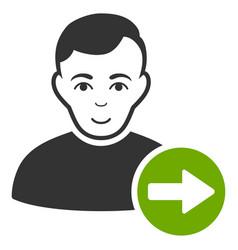 Next user icon vector