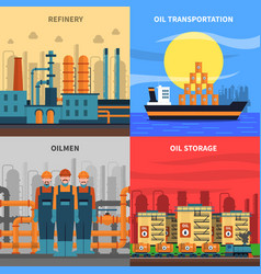 Oil concept icons set vector