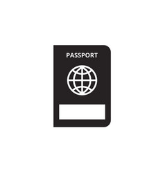 passport icon graphic design template vector image