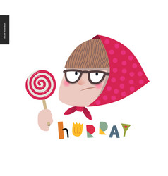 people - lollipop hurray vector image