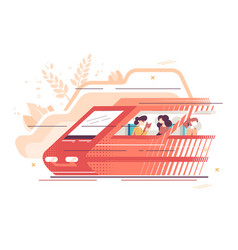 people travelling train vector image