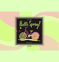 poster spring sales vector image