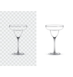 realistic margarita glasses vector image