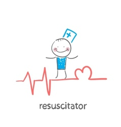 Resuscitation is on the line showing the beating vector
