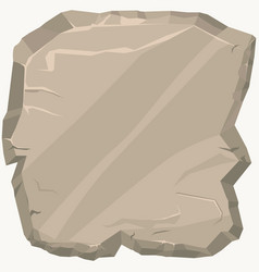 rock stone game art rocks cartoon banner square vector image