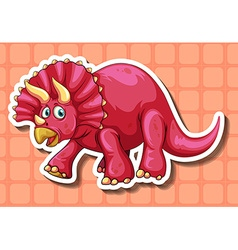 Rubeosaurus with two horns vector