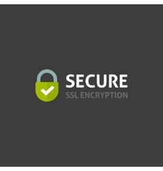 Secure internet connection icon secured ssl vector