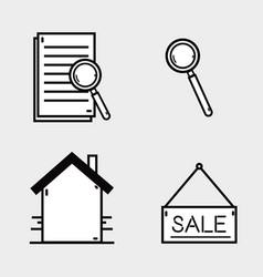 set line flat icons design vector image