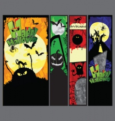 set of 4 vertical halloween banners vector image