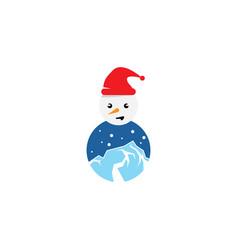 Snow man design vector