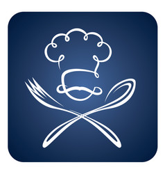 spoon fork and chef vector image