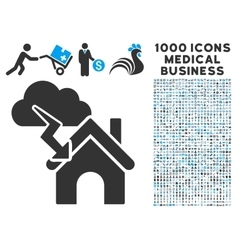 Storm Building Icon with 1000 Medical Business vector