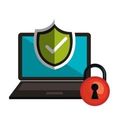 symbol technology secure safety design vector image