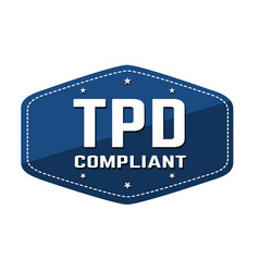tdp tobacco products directive compliant label vector image