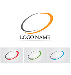 Technology circle logo and symbols vector