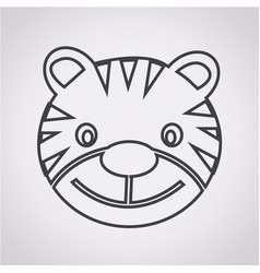 tiger icon vector image