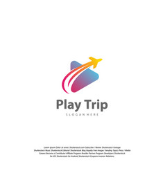 Travel play logo design travel logo design vector