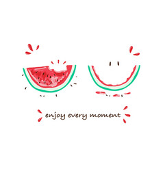 tropical slogan watermelon t-shirt graphic vector image