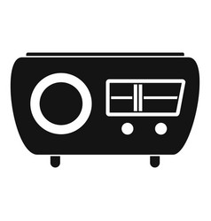 Tuned radio icon simple style vector