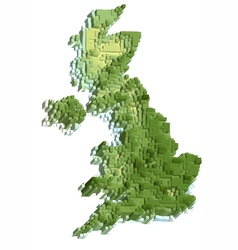 Uk abstract map vector