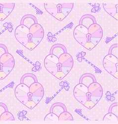 valentines pattern cute seamless texture with vector image