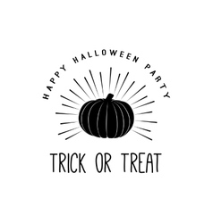 Vintage Happy Halloween Trick or treat vector image