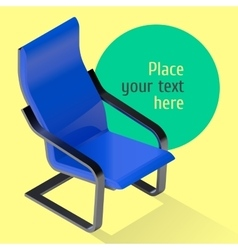 Armchair isometric Chair vector image vector image