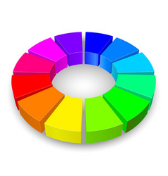 circular diagram in rainbow colors isolated on vector image vector image