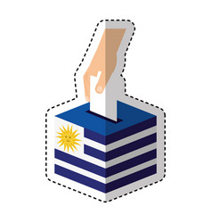election day uruguay urn vector image