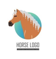 Horse Logo in Flat Design vector image vector image