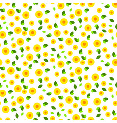 millefleur small dense seamless pattern vector image