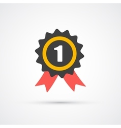 Prize with ribbon trendy flat icon vector image