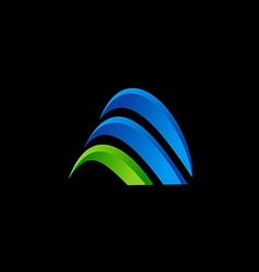 3D business finance abstract technology logo vector image