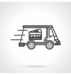 Black line icon for food delivery vector image