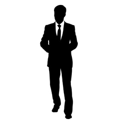 Black silhouettes of beautiful mans on white vector image vector image