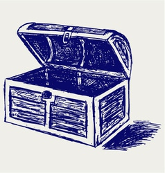 Chest sketch vector image vector image