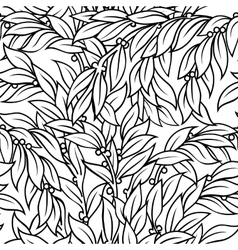 Laurel seamless background vector image vector image