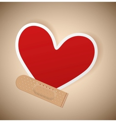 Plaster and heart vector image