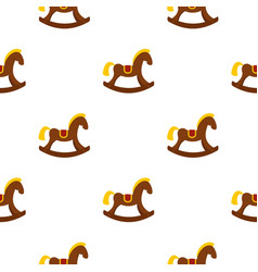 Toy horse pattern seamless vector